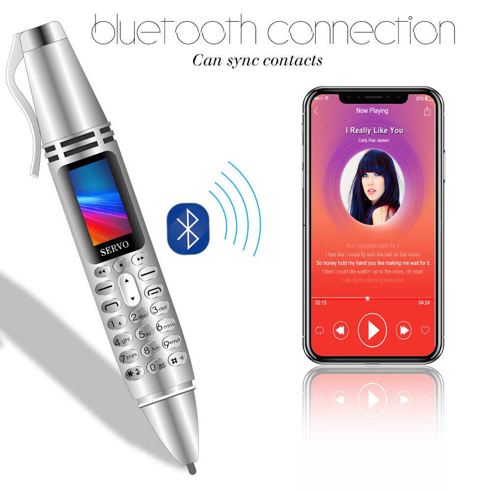 """SERVO K07 Bút Điện Thoại Di Động nhỏ 0.96 """"Tiny Màn Hình GSM Dual SIM Máy Ảnh Đèn Pin Bluetooth Dialer Điện Thoại Di Động với Ghi Âm bút"""