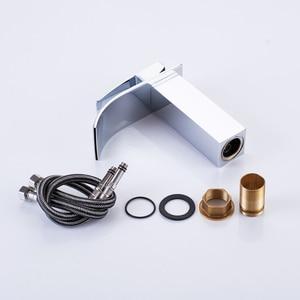 Image 5 - Yepyeni cilalı havzası evye su musluğu tek kolu tek musluk mikser delik güverte üstü havzası banyo musluk WB 003