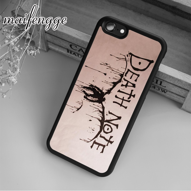 Maifengge Death Note Case For IPhone 6 6S 7 8 Plus X 5 5S