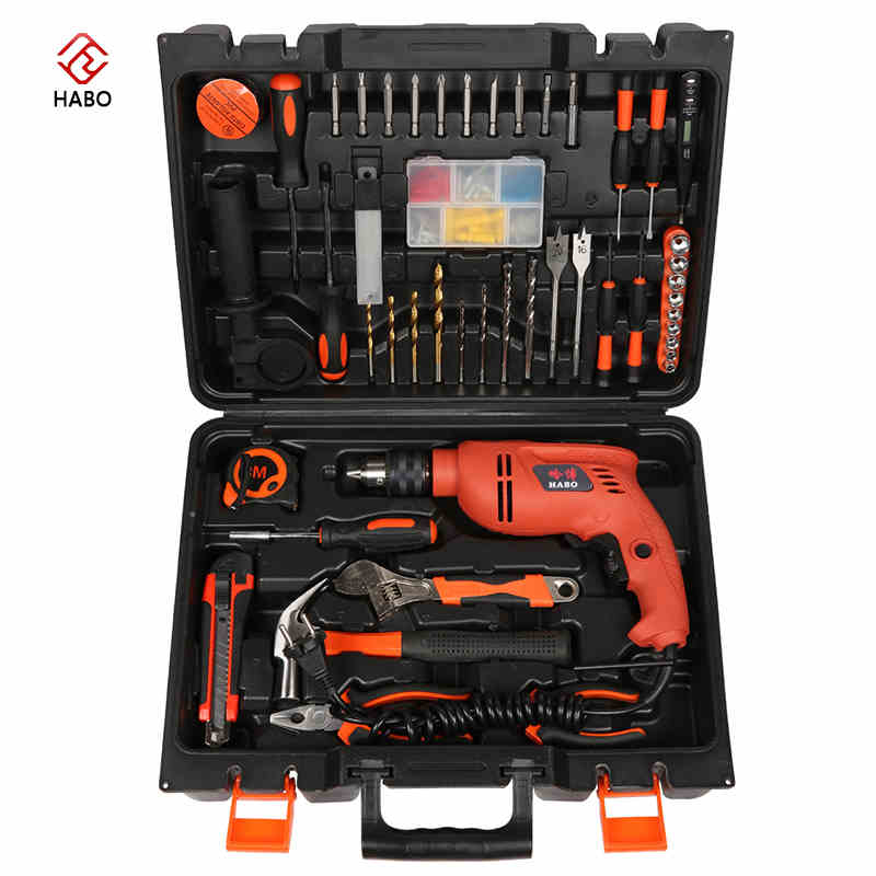 Multi - functional combination of electric screwdriver impact drill toolbox sets of hardware home appliances toolbox impact electric drill multi functional combination of electric screwdriver toolbox set hardware electrical toolbox