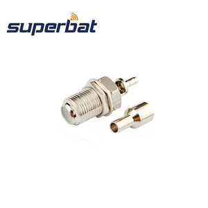 Image 2 - Superbat 10pcs F Connector 75 Ohm Crimp Jack Female Bulkhead RF Coaxial Connector for RG179 ,RG174, RG178,RG316,LMR100 Cable