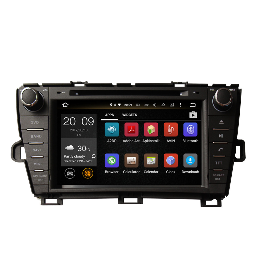 Best Android 8.0 Octa Core 4GB RAM Car Radio Stereo GPS Navigation For Toyota Prius 2009- Left Hand Driving DVD Multimedia Player 4