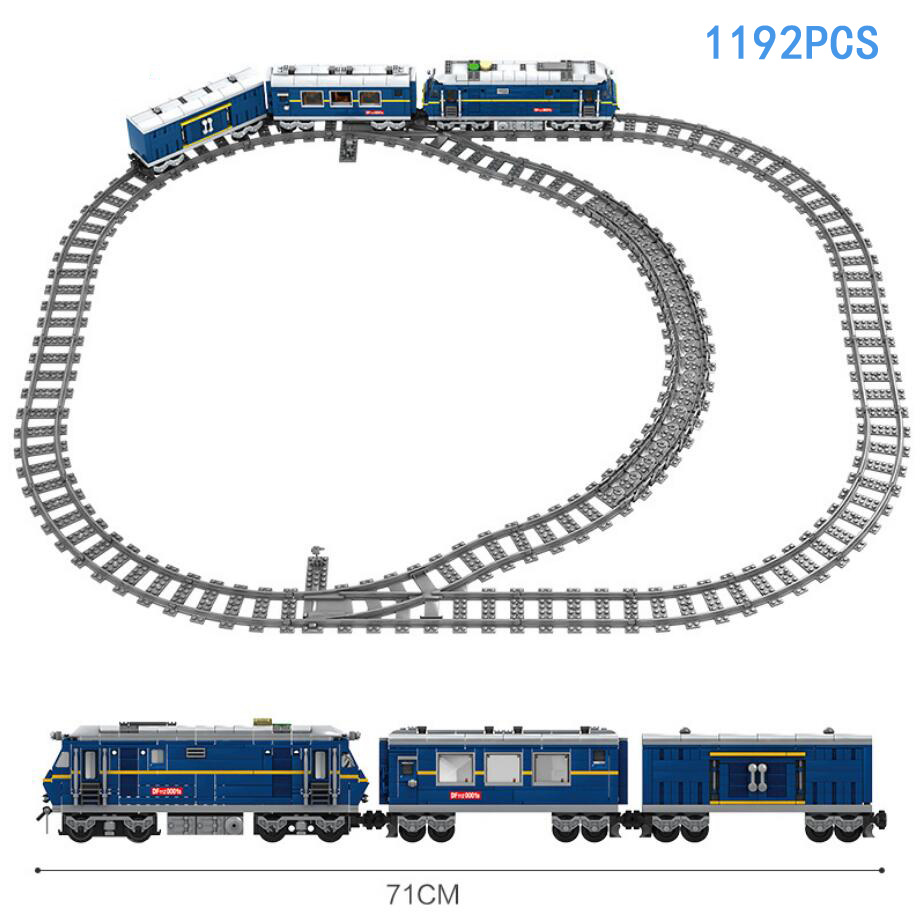 Technics 11z battery operated railway train bricks Transport worker Train conductor figures building block Truck toys collection