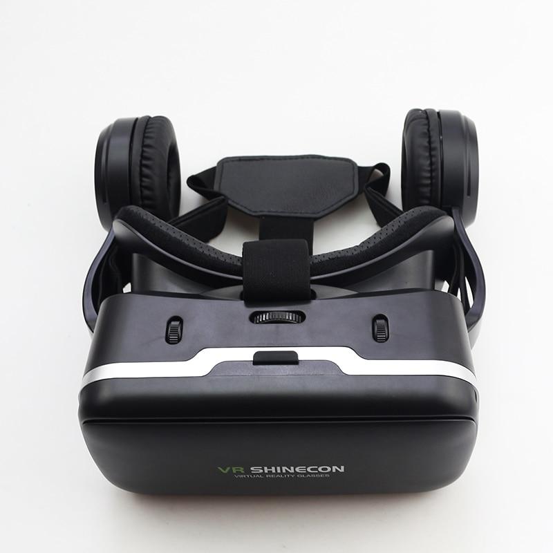 Shinecon 6.0 G04E VR Headphone Version Google Cardboard 3D Virtual Reality Glasses Headset Helmet Head Mount For 4-6 Phone