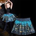 Девушки одежда юбки baby дети принцесса юбки девушка популярные юбка детской одежды юбки Новые печатные Огни ночь