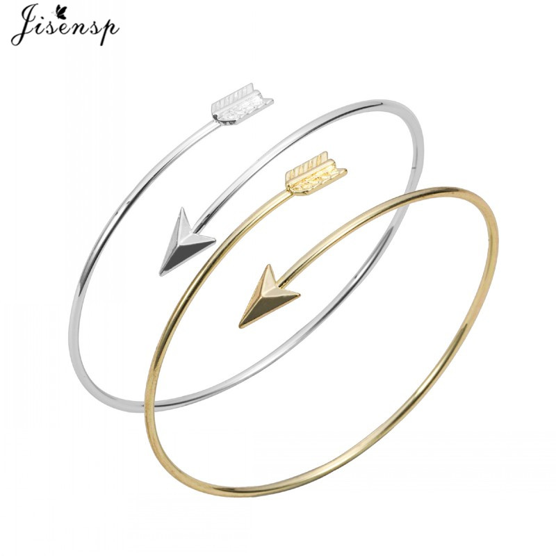 Adjustable Wrapped Arrow Bracelet Bangles for Women Wire Bangles