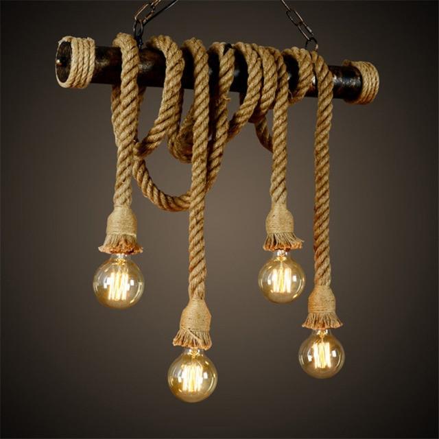 ICOCO Vintage Industrial Pendant Double Head wood lamp E27 Edison Restaurant Themed