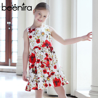 Girls Dresses Kids Clothes 2017 Brand Girls Party Sleeveless Luxury Dresses Floral Printed Princess Dress