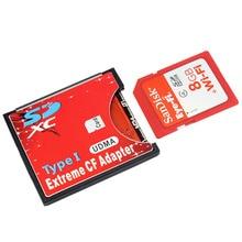 Новый SDXC SDHC WI-FI SD до Тип я Compact Flash Card адаптер CF адаптер Максимальная Поддержка 2 ТБ SL @ 88