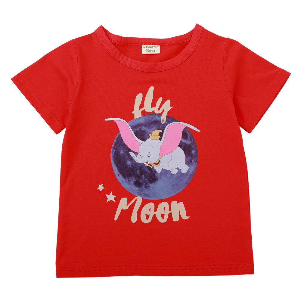 T-Shirt Boy Clothing Dumbo Kids Tee Girls Children Cartoon Summer Fashion Streetwear