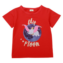 Kids Clothes girls Boys T-shirt boy Streetwear 2019 summer fashion cartoon Dumbo Children Clothing tee