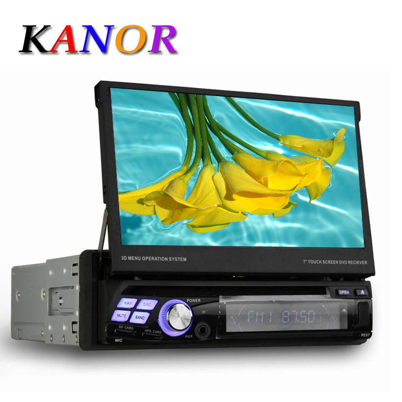 Universal 7 1 Din Android 4 4 Quad Core Car DVD GPS Navigation With Autoradio WIFI