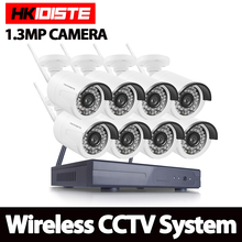 1.3MP CCTV System 1080P 8ch HD Wireless NVR kit HDD Outdoor IR Night Vision IP Wifi Camera Security System Surveillance NO HDD