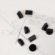 100 шт DIY аксессуары для волос ручной работы компоненты ювелирных изделий веревка пряжка черный прозрачный веревка Пряжка эластичная
