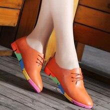 2020 ใหม่Breathableรองเท้าหนังแท้รองเท้าผู้หญิงรองเท้าผ้าใบTenis FemininoพยาบาลPeasรองเท้ารองเท้าผู้หญิงขนาดรองเท้า