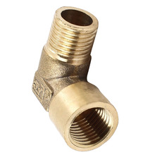 90 Degree Elbow 1/4 PT Male to Female Pipe Fitting Coupler