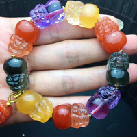 Wholesale JoursNeige Color Natural Crystal Bracelets Carving Pixiu Beads Hand String Lucky Wealth for Women Men Crystal Jewelry