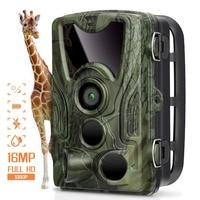 Hunting Camera Trail Cameras 16MP 1080P IP65 Night Version Photo Trap 0.3s Trigger HC801A Wildlife Surveillance 16GB SD Card
