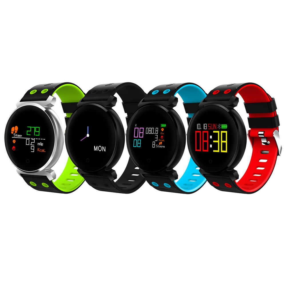 CACGO K2 Bluetooth 4.0 Nordic NRF52832 Chip Sleep / Heart Rate / Blood Pressure / Calories Monitor etc Remote Camera Smart Watch