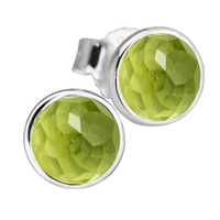 a88ab57cde86 August Droplets Stud Earrings With Peridot 100 925 Sterling Silver Jewelry  Free Shipping