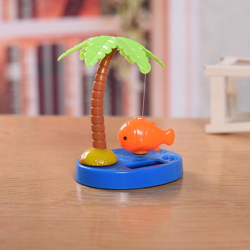 Car-styling Tropical Fish Series Auto Ornament Solar Powered Dancing Shaking Head Cartoon Animal Doll Car Dashboard Decoration