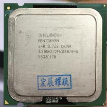 Intel  Pentium 4  640 P4 640 3.2 MHZ 2M 800  Dual-Core CPU LGA 775  100% working properly Desktop Processor P4 640 processor