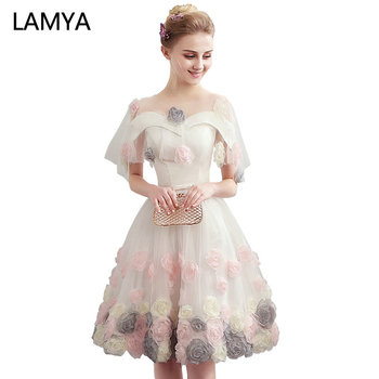 b34cd0b4f LAMYA corto apliques vestidos de graduación 2019 elegante vestido de baile  vestido de fiesta de noche