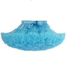 Синяя юбка-пачка обувь для девочек Слои пушистый вечерние партии танцы юбка детская одежда Professional балетные костюмы Тюлевая юбка/jupe fille