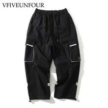 VFIVEUNFOUR 2019 Multi Pockets Cargo Harem Pants Mens Casual Joggers Baggy Tactical Trousers Harajuku Streetwear Hip Hop