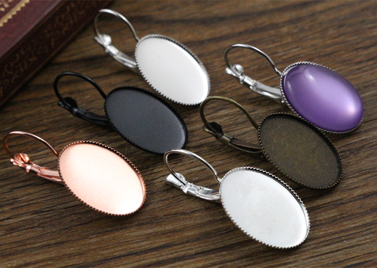 13x18mm 10pcs/lots 7 Colors plated French Lever Back Earrings Blank/Base,Fit 13x18mm Oval glass cabochons13x18mm 10pcs/lots 7 Colors plated French Lever Back Earrings Blank/Base,Fit 13x18mm Oval glass cabochons