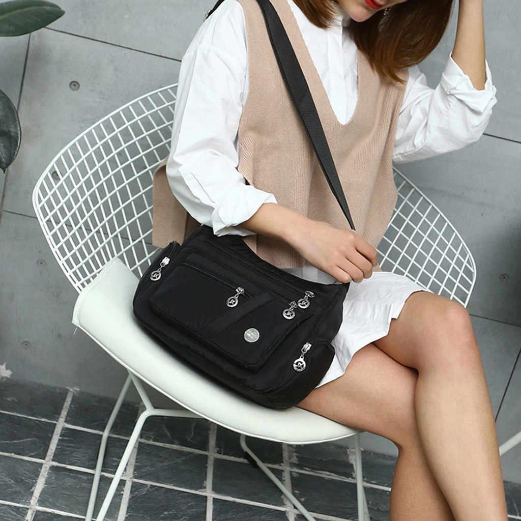 Aelicy Для женщин сумки @ нейлон Повседневное Водонепроницаемый женские сумки на плечо путешествия большие девочки сумка bolsa женские сумки mujer 2019 Лидер продаж