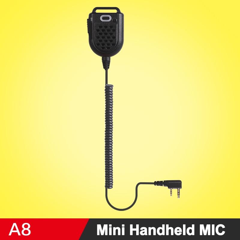 Nouvelle Arrivée Mini Portable MIC Microphone À Main D'épaule Haut-Parleur Pour Kenwood Baofeng 888 S UV5R Talkie Walkie à Deux Voies Radio K Type