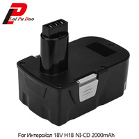 Ni CD Power Tool Battery for Interskol H18 18V 2000mAh Replacement Cordless Drill Battery