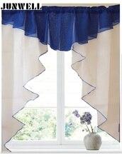 11 colores de Moda de Diseño de Costura Colores de Tul Plisado Cortina Romana Cocina Balcón Cortina de La Ventana Ciega 1 unid