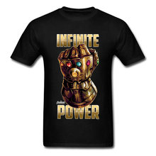 Guerre infinie 4 EndGame puissance t-shirt or Thanos gantlets imprimé t-shirts Captain America Marvel hommes t-shirt super-héros drôle(China)