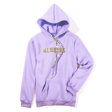 Autumn Winter New Hot Stamping Letter Printed Hoodies Women Long-sleeved Hooded Sweatshirt For Fashion Casual Top 2018
