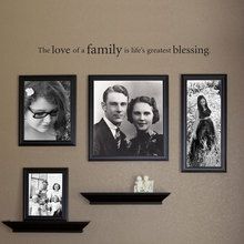 The Love Of A Family Is Life's Greatest Blessing Wall Decal Family Picture Vinyl Wall Sticker Home Decor Quotes 3227