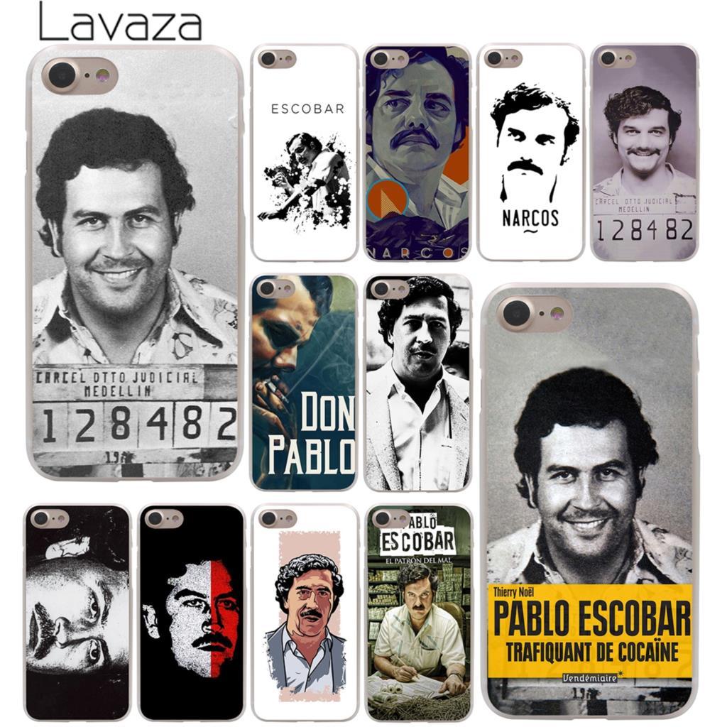 """Lavaza Pablo Escobar"" kieto telefono dėklas, skirtas ""iPhone XR X XS 11 Pro Max"" 10 7 8 6 6S 5 5S SE 4 4S dangtelis"