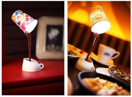 wholesale, 40pcs/lot, creative DIY LED night light, table lamp, coffee shape, home/dinner decoration, gifts, freeshipping