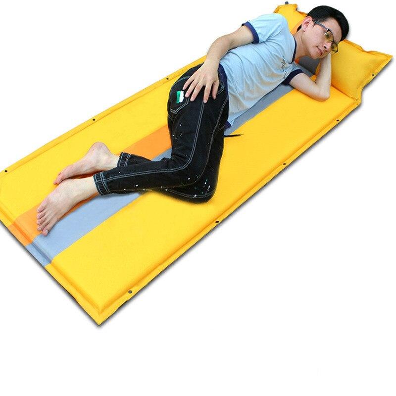 190*68 CM matelas gonflable automatique matelas de plage lit d'air tente de Camping coussin de couchage coussin gonflable sac de couchage