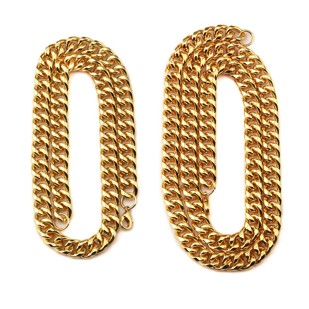 Charm Mens Jewelry Hip Hop Chains for Men Gift DJ Disco Style Chain Franco Curb Cuban Link Double Curb Chain chunky Necklace