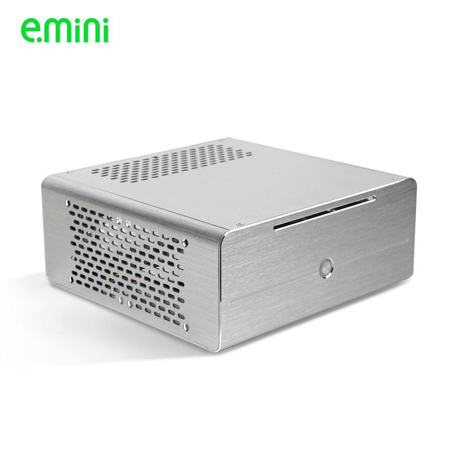 Realan alluminio mini itx pc desktop caso E i7 con alimentazione, CD ROM, slot nero argento-in Case e tower per computer da Computer e ufficio su  Gruppo 1