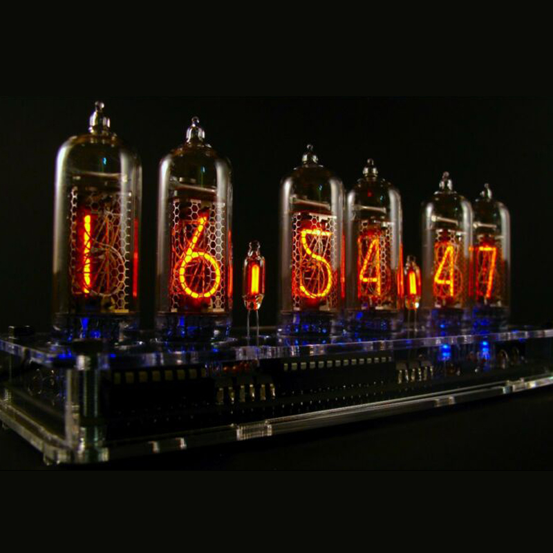 DIY Circuit Board Unfinished Electronic Tube Clock For IN 14 Glow Clock Accessory Alarm Clocks Accessories