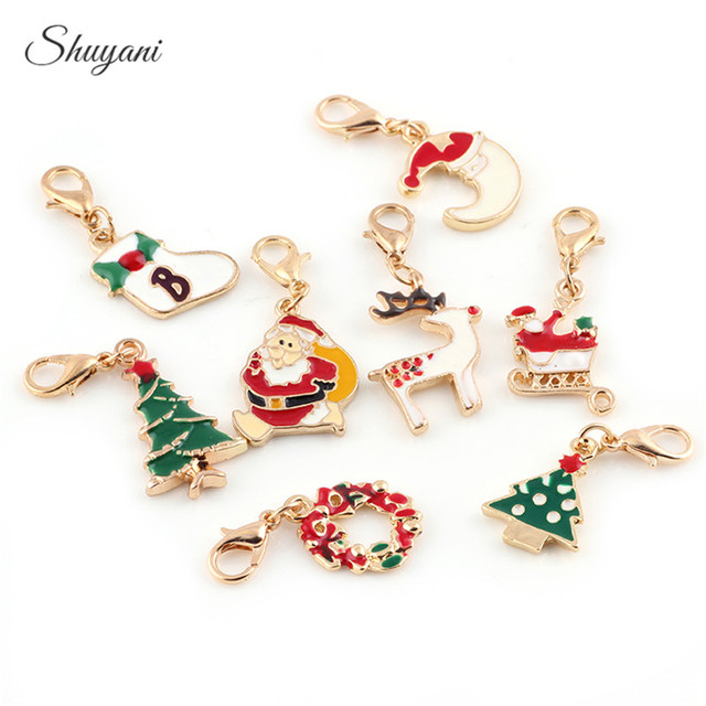 20pcs mix christmas charms gold color enamel christmas charms 20pcs mix christmas charms gold color enamel christmas charms pendants fit diy bracelet jewelry lobster clasp mozeypictures Images