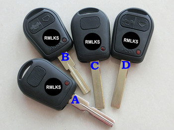 RMLKS 2 3 Button Uncut Blade Car Key Replacement Remote Key Case Shell for BMW E31 E32 E34 E36 E38 E39 E46 Z3 Fob image