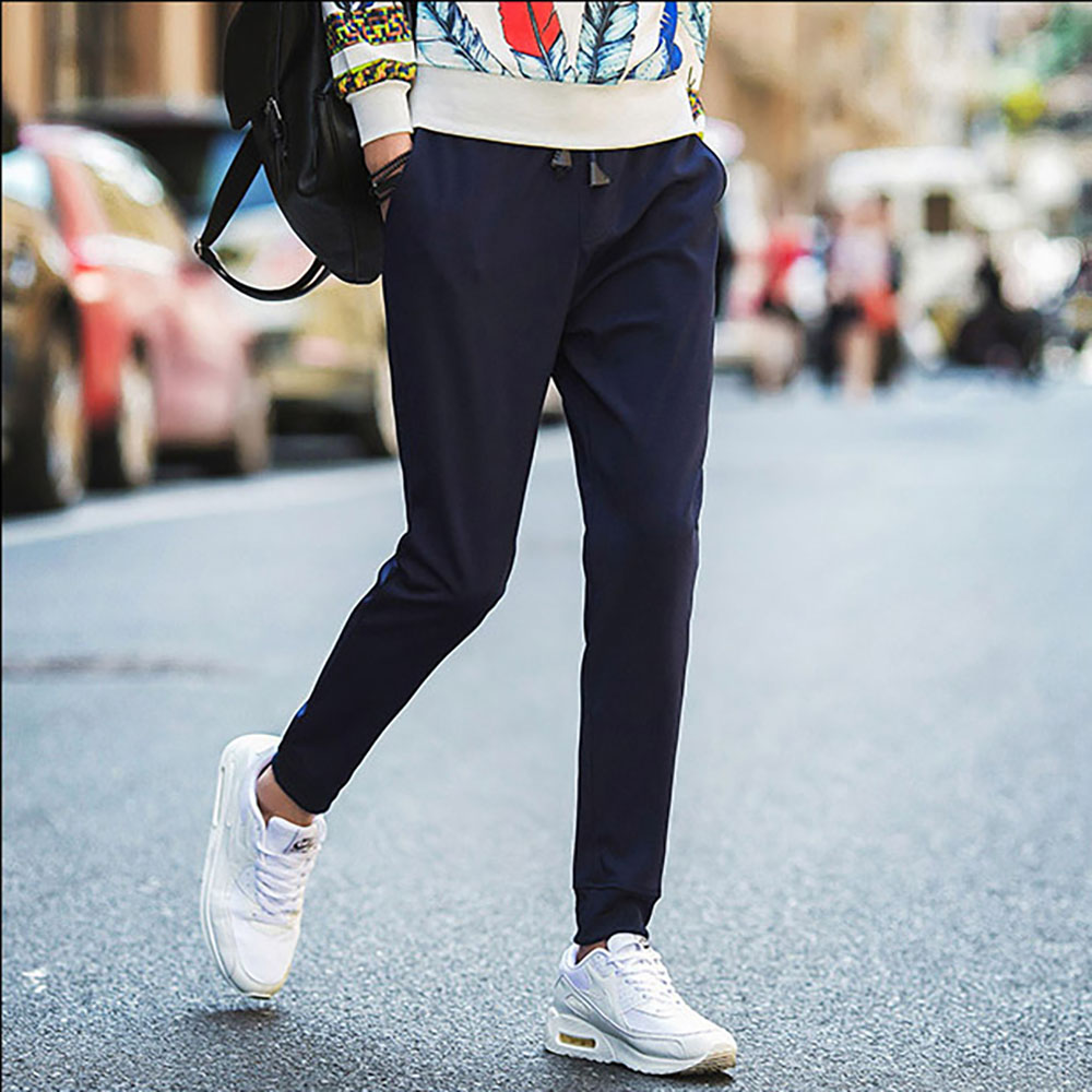 Addany Fitness Joggers Sweat pants Simple Streetwear Men Pants Feet Trousers Men Cotton Deporte Pants Cozy Casual Long Pants