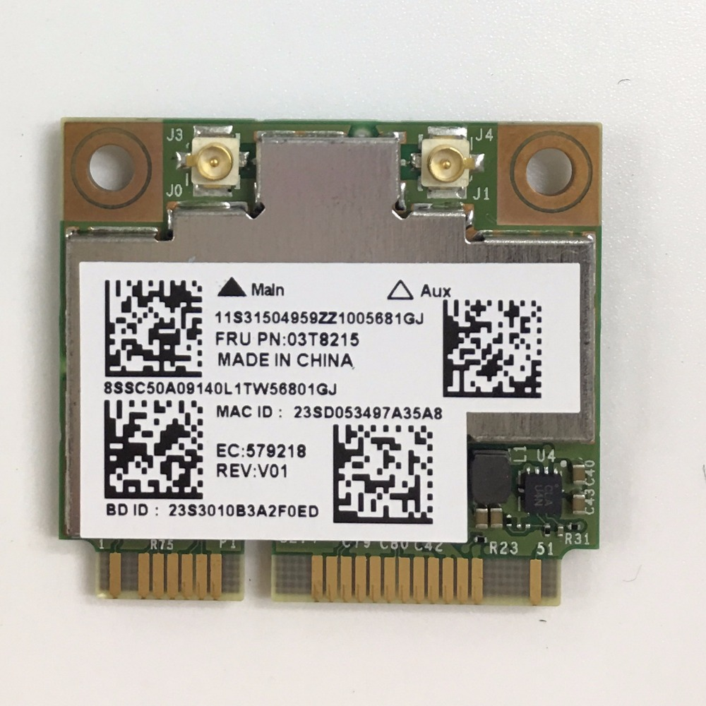 US $29 99 |BCM94352HMB FRU 03T8215 802 11ac 867Mbps BT4 0 WiFi Wireless  Network Card support hackintosh for IBM lenovo Y510p Y410p Y430P-in Network