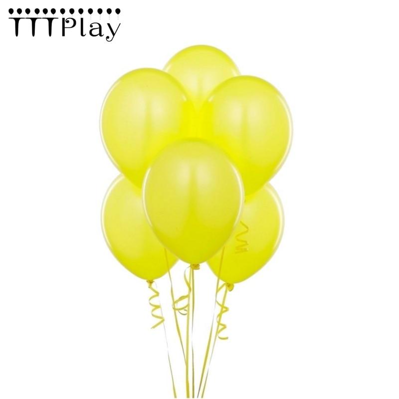 Balão amarelo 10 pçs lote 12 Polegadas 2.8g de Látex Balão de Ar Inflável  Bola de Casamento Decoração Balões de Festa de Aniversário Feliz Suprimentos b141e7b09bf0e