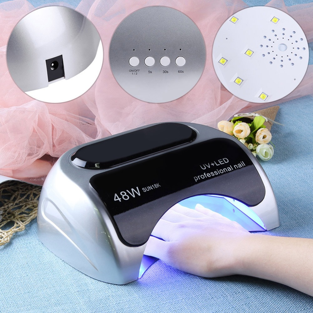 24W/48W Switchable Nail Dryer Polish UV LED Nail Lamp Nail Dryer Gel Polish Curing Light Nail Art Tools EU Plug new professional portable nail dryer curing lamp mini 24w 48w switchable led uv phototherapy nail gel lamp nail art tools
