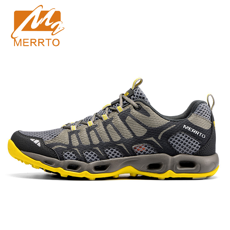 2018 Merrto Lovers Trail Running Shoes Lightweight Runner Outdoor Sports Shoes Mesh For Lovers Free Shipping MT18598/MT18597